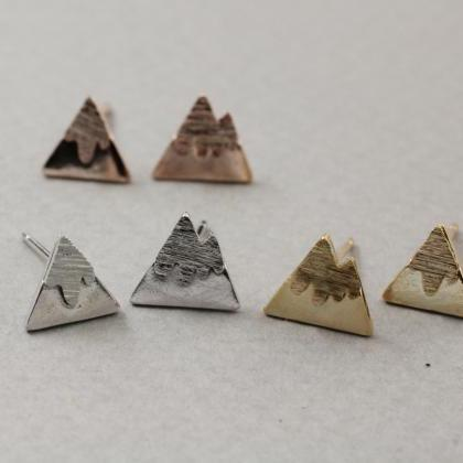 Cute Mountain Stud Earrings, Snow M..