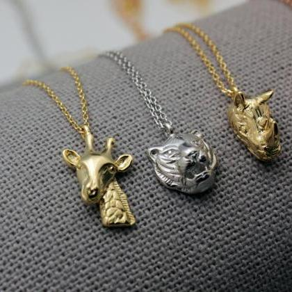 Zoo Animals Necklace, Wild animal n..