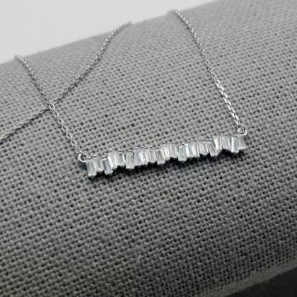 925 Sterling Silver Baguette Cut sq..