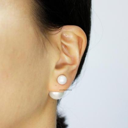 Front and Back Double Pearl EarJack..