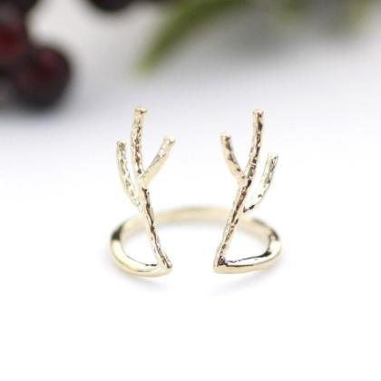 Antler ring, Deer ring, stag ring, ..