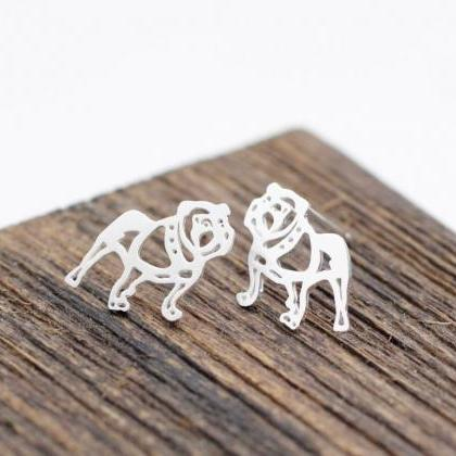 Cute french bulldog Stud Earrings i..