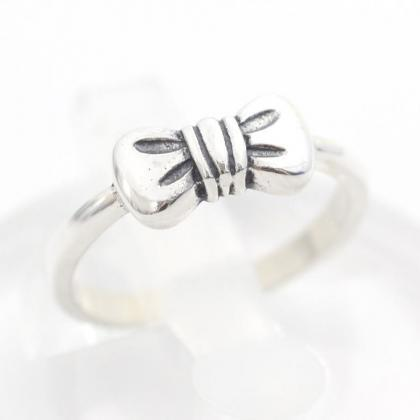 925 sterling silver cute bow little..
