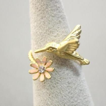 Humming Bird and Flower Adjustable ..