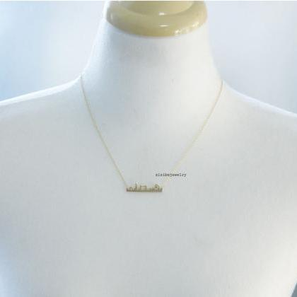 Cityscape Necklace, Skyline Necklac..