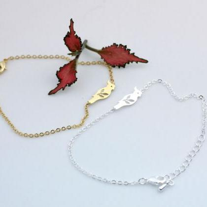 Parrot and Leaves Pendant Bracelet ..