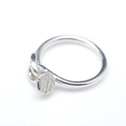 925 Sterling Silver wired Nail ring