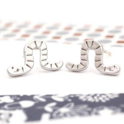 cute and unique Worm post earrings(..