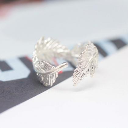 925 sterling silver Light Feather R..