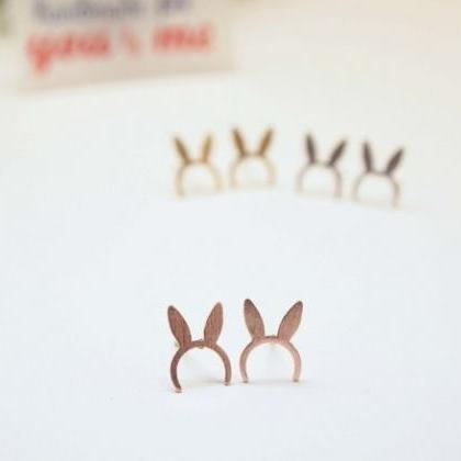 Bunny Ears hairband Stud Earrings i..