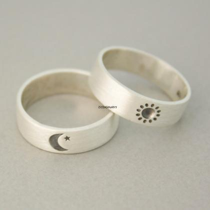 925 sterling silver Sun and Moon Ri..