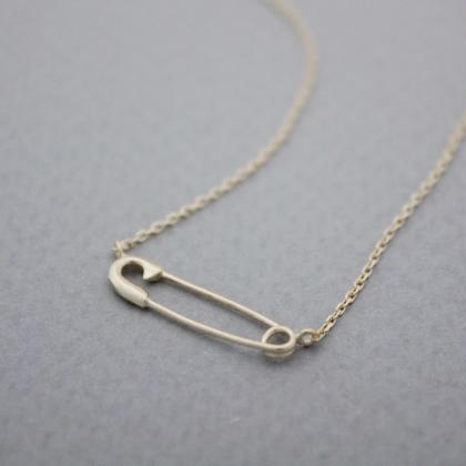 925 sterling silver Safety Pin char..