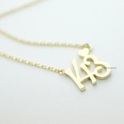 143, I LOVE YOU pendant Necklace in..