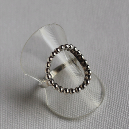 925 Sterling Silver Open Circle Dot..