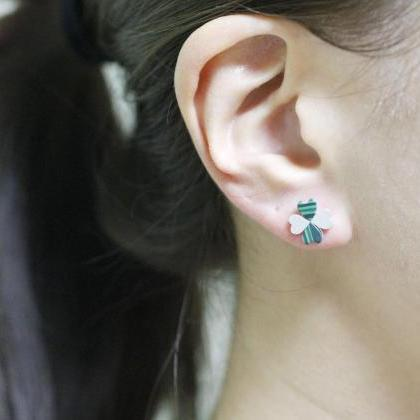 Four Leaf Clover Stud Earrings with..