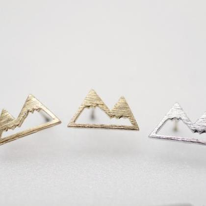 Cute Mountain Stud Earrings, Mounta..