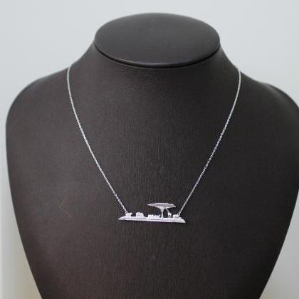 Africa Skyline Necklace, Safari Nec..