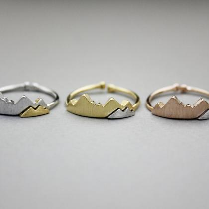Cute two colors Mountain Ring, Two ..