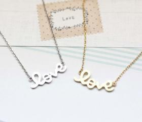 LOVE charm Necklace ..