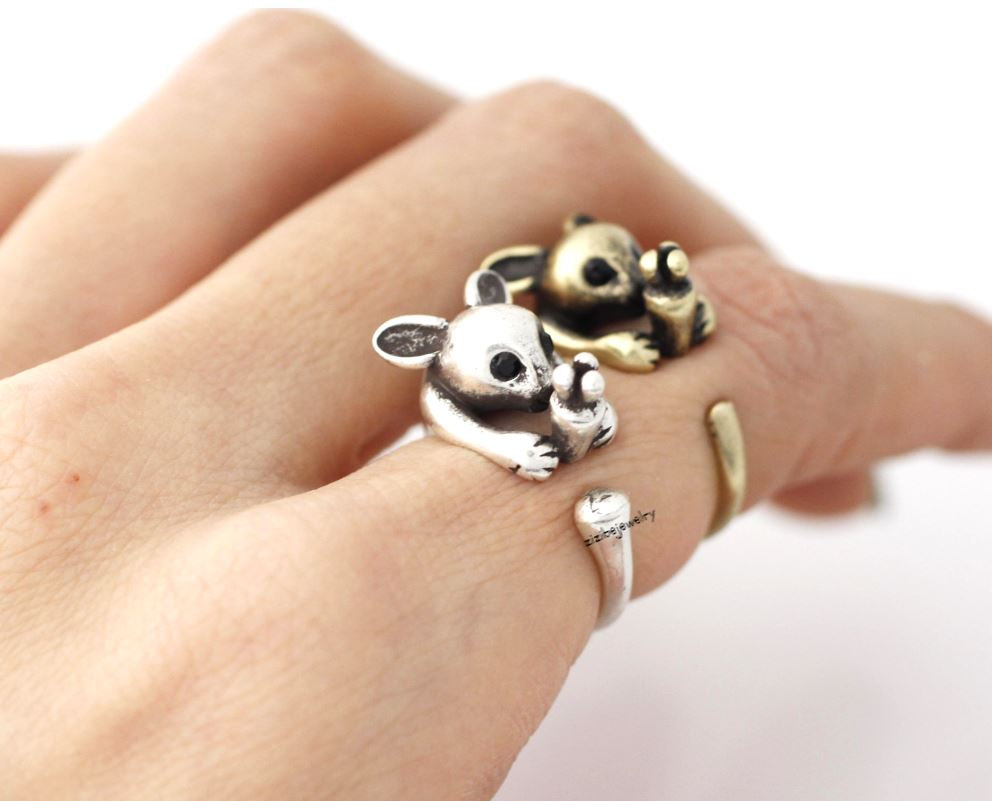 Cute Rabbit and Carrot Wrap Ring in 2 colors, R0387S