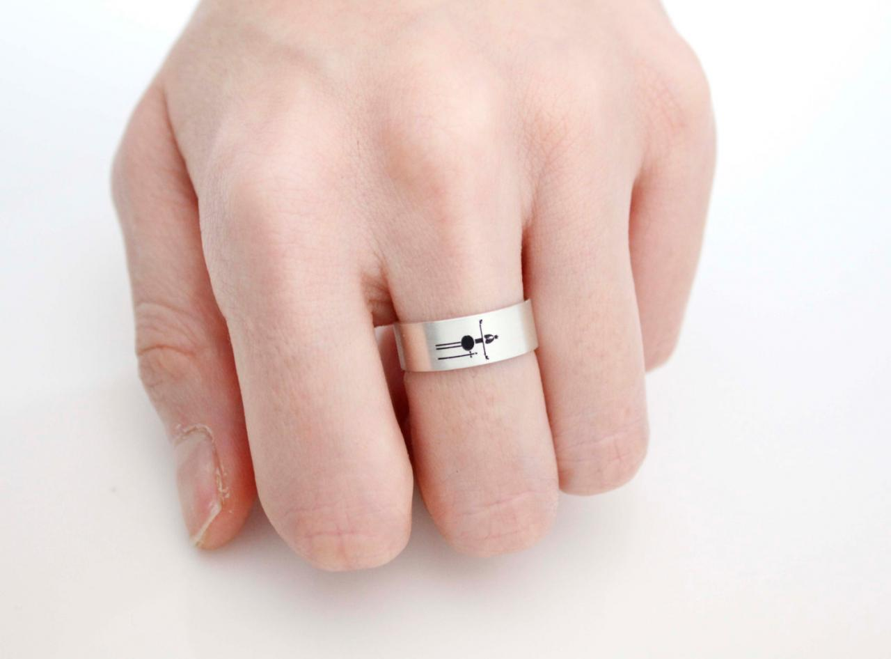 925 Sterling Silver Vertical Queen And King Ring ,Couple Rings ...
