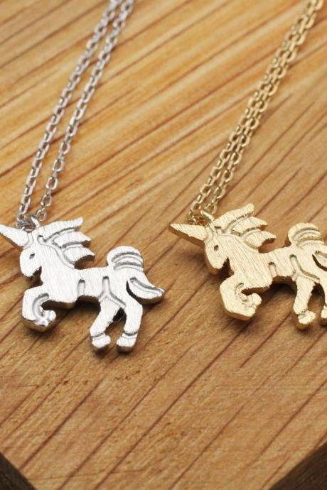925 sterling silver Little Unicorn Necklace, HORSE Necklace, Magical Unicorn Jewelry