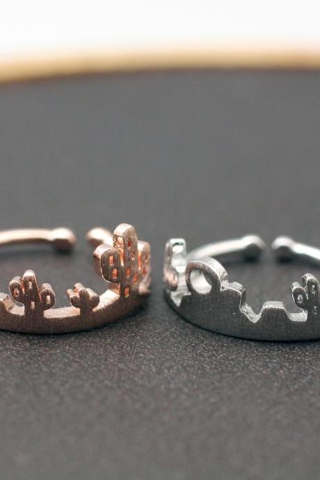 Desert Skyline Ring, Cactus Ring, Wilderness National Parks Skyline Ring, Cactus Plants ring