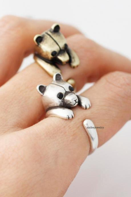 Cute Bear adjustable ring, R0373S