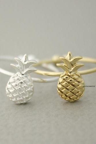 Cute Pineapple adjustable ring in 2 colors, R0626G