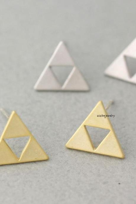 Tri Force Earrings in gold / silver, E0362S