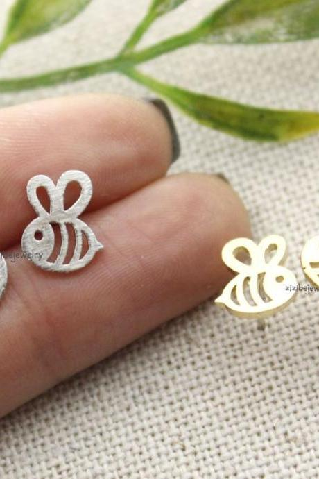 Cute Honeybee stud earrings in 3 colors, E0285K