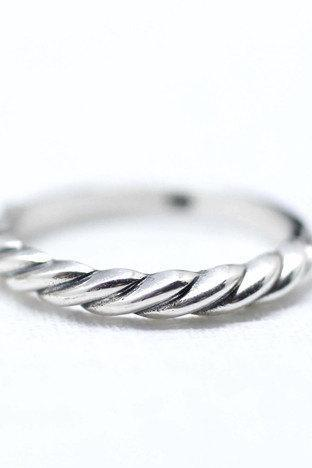 925 Sterling Silver Twisted Stacking Ring
