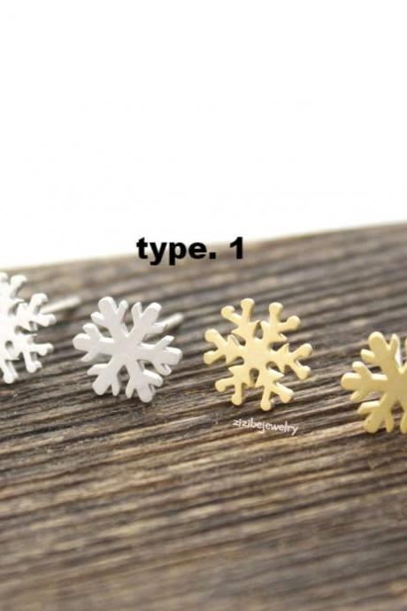 Snowflake Earrings in 2 colors(choose your style and color), E0322S