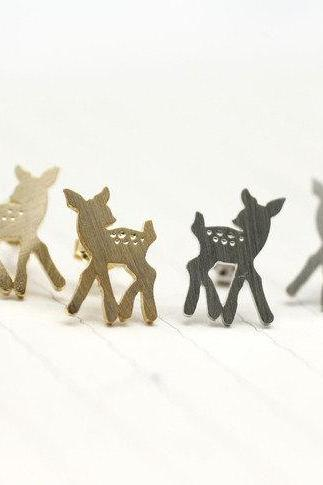 Bambi studs Earrings in matte silver / gold