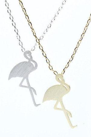 Flamingo Bird Necklace in 2 colors