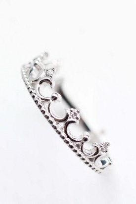 925 sterling silver Tiara Ring in silver