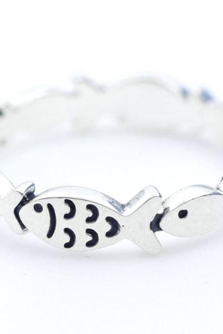 Fish Animal Ring Jewellery - sterling silver alloy