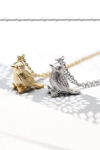 Little Sparrow Necklace in gold /silver