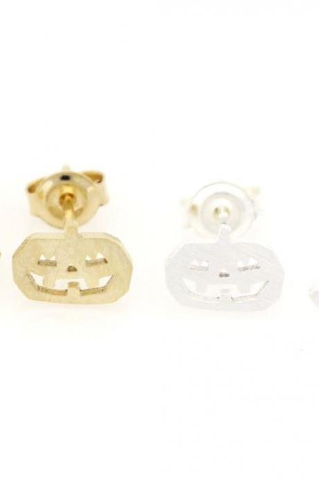 Fun and cute Halloween Pumpkin ghosts stud earrings in 2 colors
