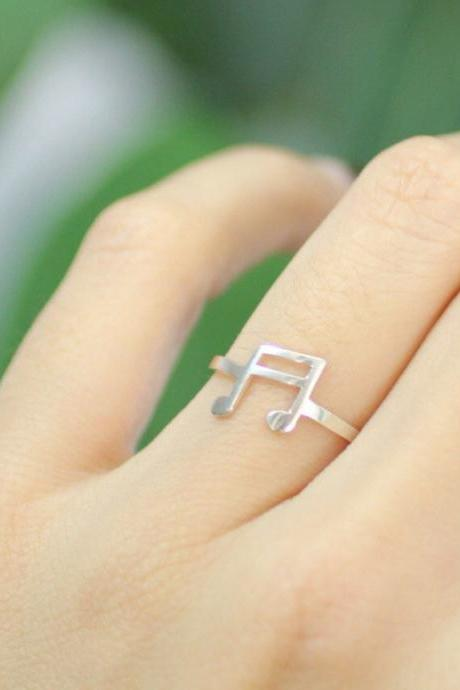 925 sterling silver Musical Note Ring, R0208G