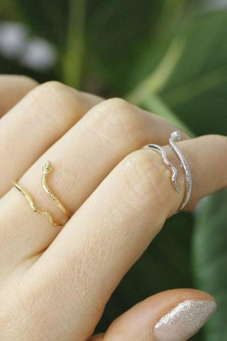 Cute snake rings in 2 colors- Adjustable Ring