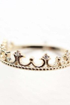 925 sterling silver Tiara Ring in gold
