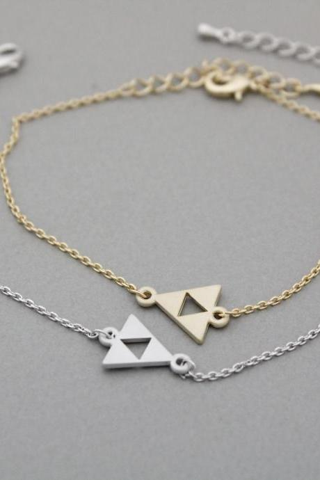 Tri Force Bracelet in gold / silver, B0950S