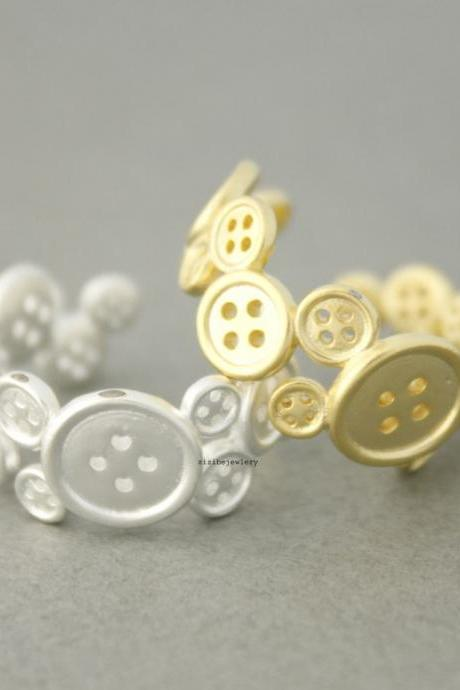 Cute Buttons Ring in gold / silver, R0489G