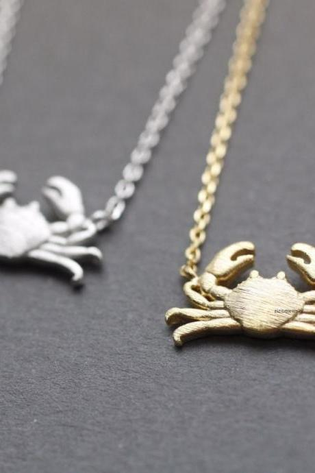 Crab , Maryland Crab pendant Necklace in 3 colors, N0740K