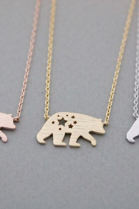 California bear ,Polar Bear Necklace, N0976K