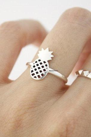 925 Sterling Silver Pineapple ring, R0716S