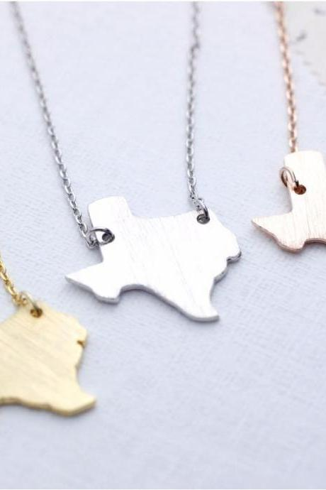 Texas (TX) necklace in gold / silver / pink gold