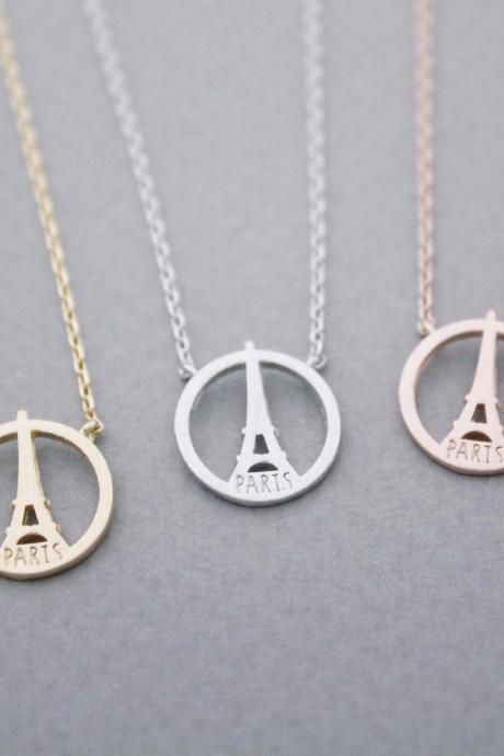 Eiffel Tower Necklace /Paris Necklace in 3 colors, N1022K