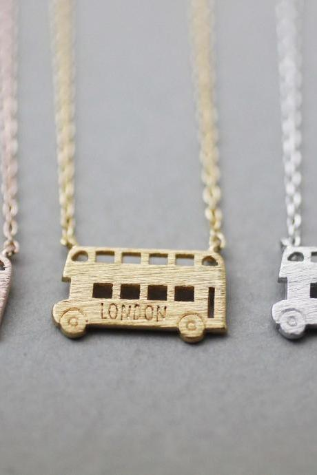London Double decker Bus Necklace, London bus necklace,N1047K